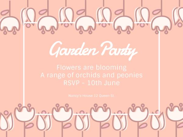 Garden party invitation card maker create custom photo cards why fotors garden party invitation card maker has everything you need stopboris Images