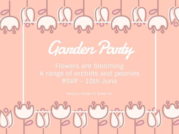 Garden party invitation card maker create custom photo cards why fotors garden party invitation card maker has everything you need stopboris Choice Image
