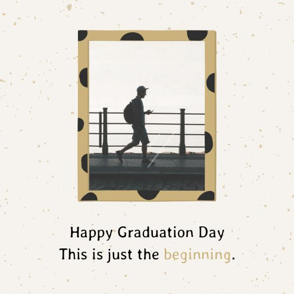 B&w Photo Graduation Card