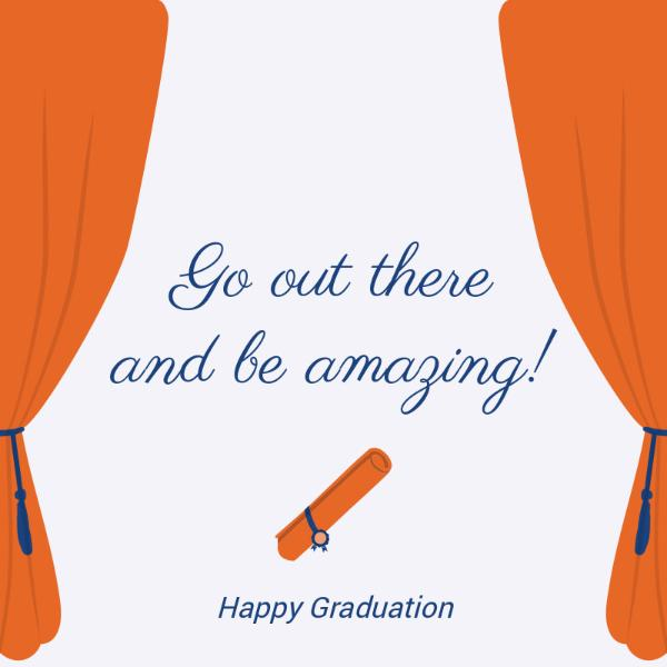 White and Orange Graduation Card