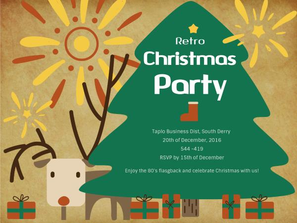 Christmas party invitation card maker create custom photo cards why fotors christmas party invitation card maker has everything you need reheart Choice Image
