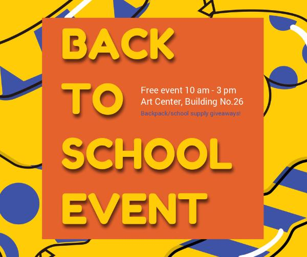 Welcome Back To School Event