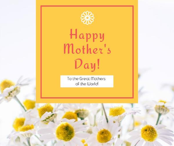 yellow mother's day appreciation card