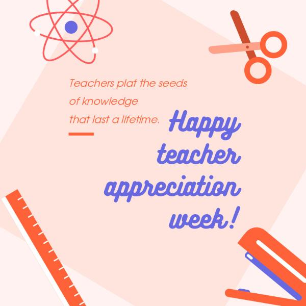 Teacher's Day Appreciation Card