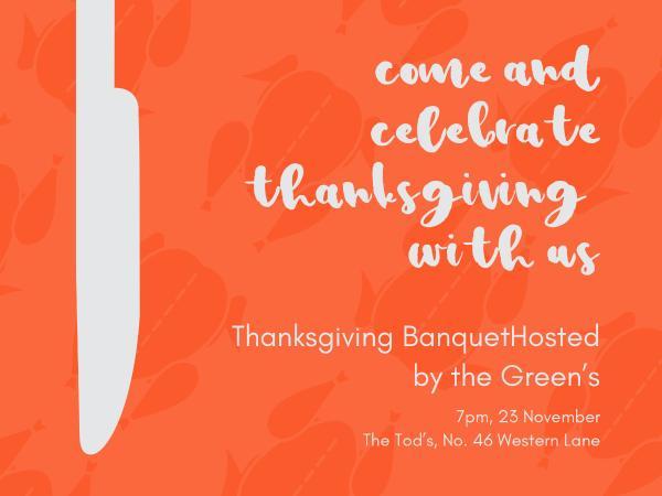Thanks giving banquet invitation