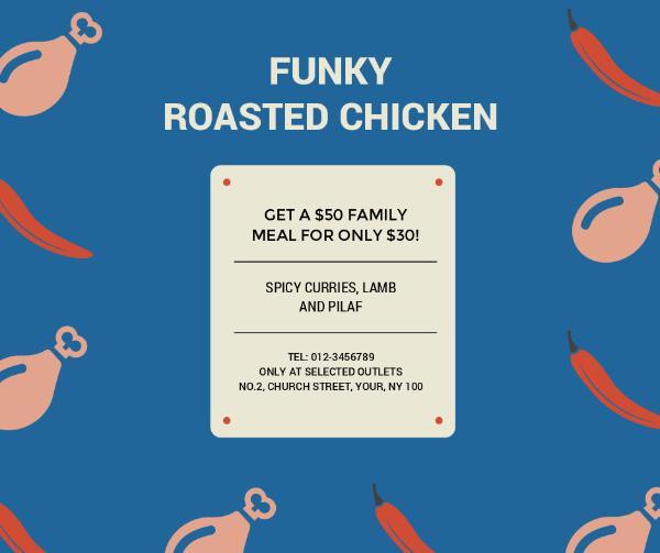 Illustrated Roasted Chicken Restaurant