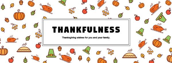 Online Thanksgiving Wishes Facebook Cover Template Fotor Design Maker
