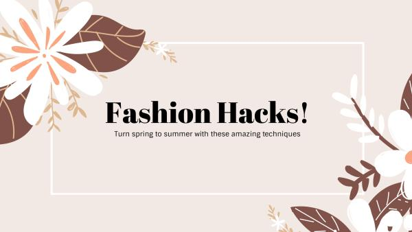 simple fashion hacks