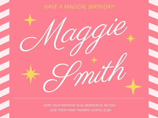 Magical Birthday Card Maker Create Custom Photo Cards Online Fotor