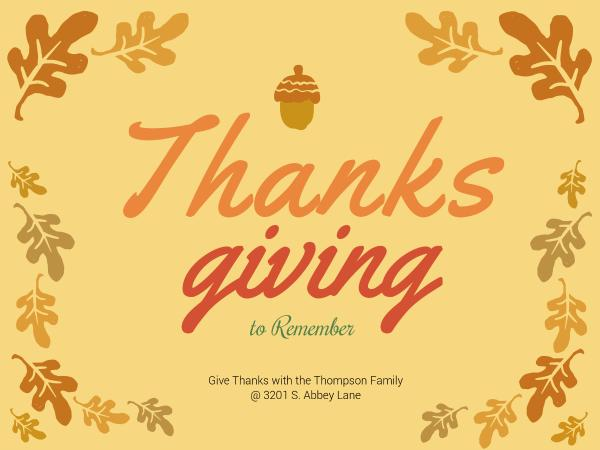 thanksgiving to remember - Free Online Greeting Card Maker