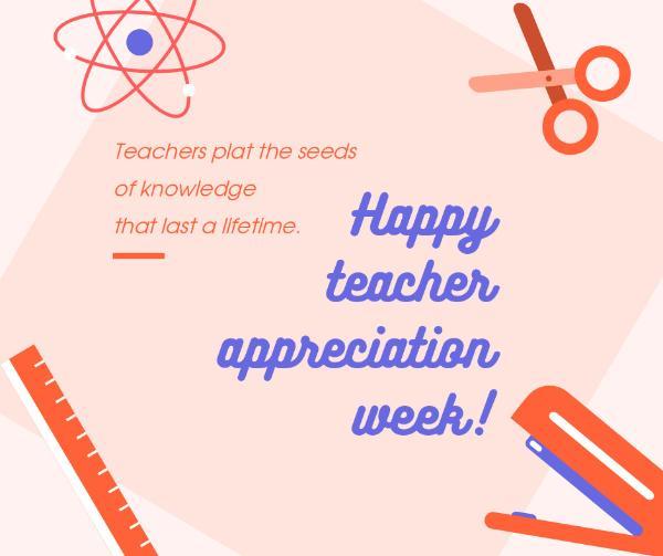 Teacher's Day Appreciation Card