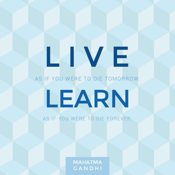 Live & Learn Quote