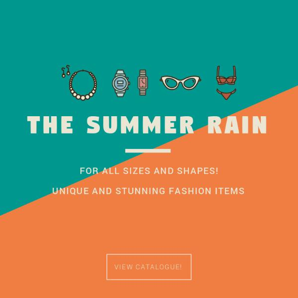 Summer fashion accessories poster