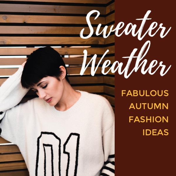 Autumn fashion sweater idea