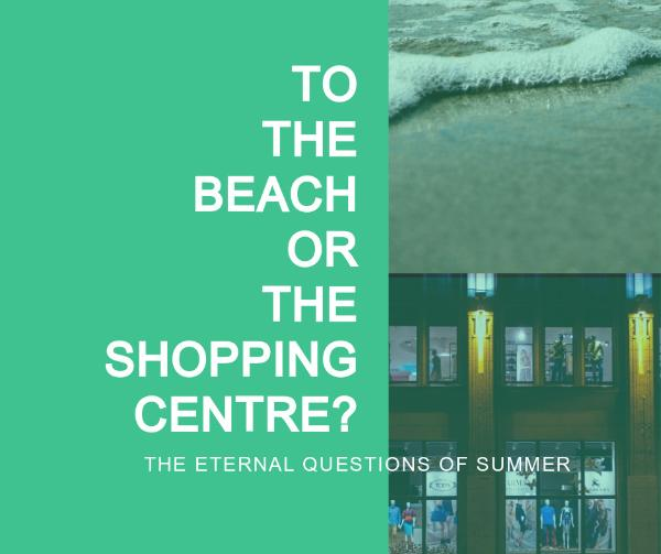 Beach and shopping summer