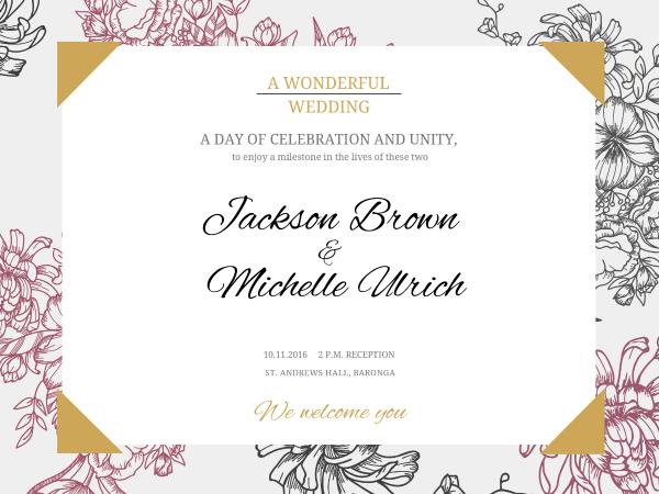 Vintage wedding invitation card maker create custom photo cards why fotors vintage wedding invitation card maker has everything you need stopboris Image collections