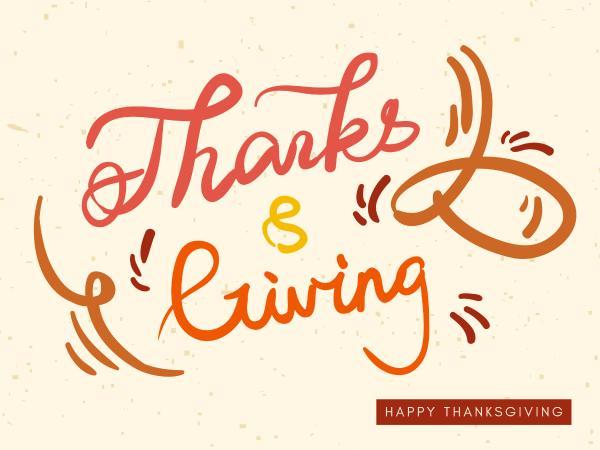 Handwriting thanksgiving