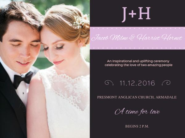 Sweet Photo Wedding Invitation
