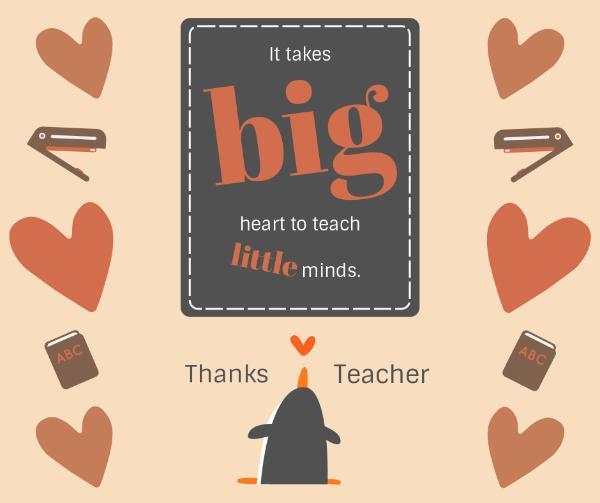 Heart Teacher Appreciation Card