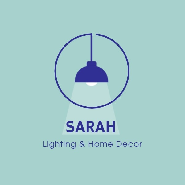 Blue Home Lighting Icon
