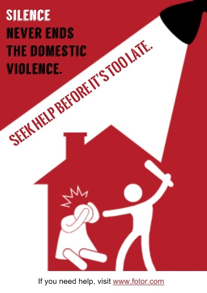 Anti-domestic Violence Poster