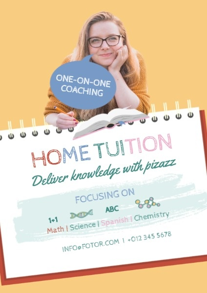 online home tuition course flyer template