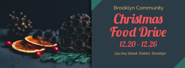 Dark Christmas Food Drive Banner