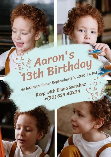 Kid Birthday Invitation