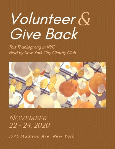 Orange Thanksgiving Charity Event