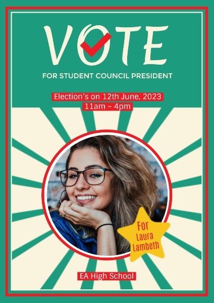 Online School Election Poster Template Fotor Design Maker