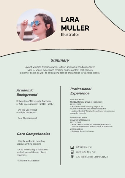 Illustrator Creative Resume