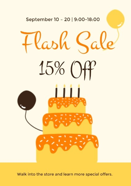 Cake Store Flash Sale