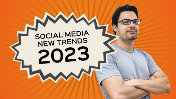 Orange Social Media News Trends