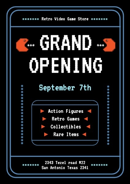 Black Video Store Grand Opening