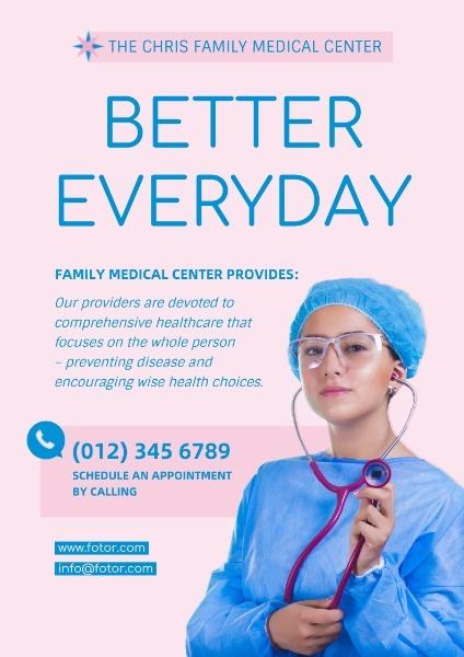 Pink Health Center Service
