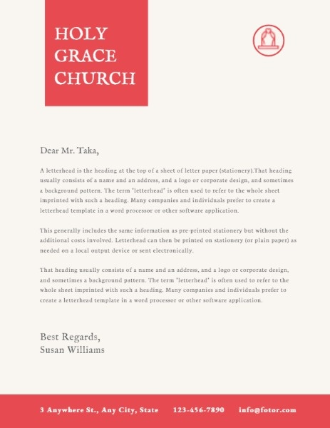 Yellow Official Church Letter