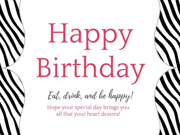 Fashion Birthday Card