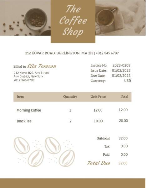 invoice4_咖啡店_wl