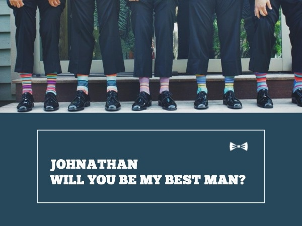 Best Man Invitation Party Card