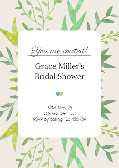 Simple bridal showerinvitation maker diy custom invitation card top reasons to use fotors simple bridal shower invitation maker stopboris Choice Image