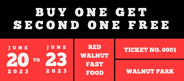 Red And Black Sale Promotion Coupon