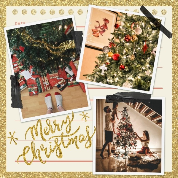 Golden Christmas Collage