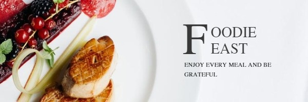 Simple Food Feast  Invitation Email Header