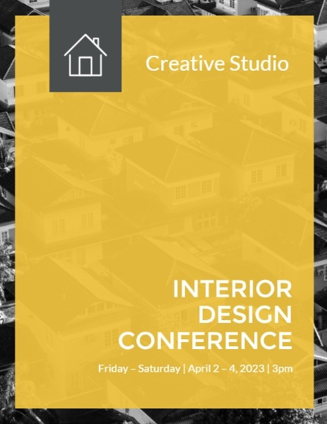 Yellow And Grey Interior Design Conference