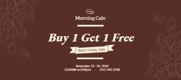 Black Friday Coffee House Special Offer