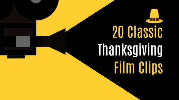 Online Thanksgiving Film Clips Youtube Thumbnail Template