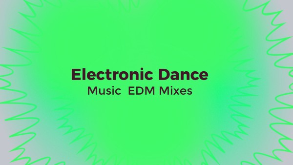 Green Electronic Dance EDM Mixes