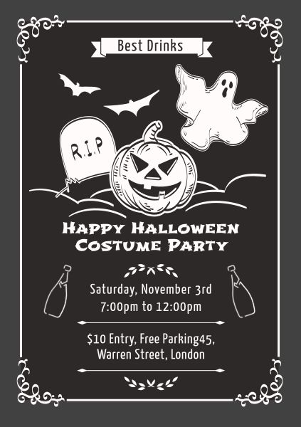 Black And White Halloween Costume Party