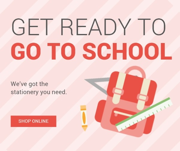 Pink Get Ready To Go To School Facebook Post