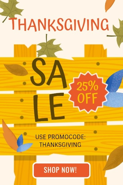 Thanksgiving Wooden Board Sale